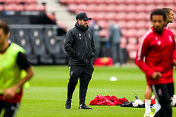 Bristol City Head Coach Lee Johnson during a friendly match before the Premier League and Championship resume after the Covid-19 mid-season disruption - Rogan/JMP - 12/06/2020 - FOOTBALL - St Mary's Stadium, England - Southampton v Bristol City - Friendly.