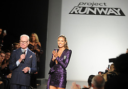 Tim Gunn and Heidi Klum seen at the conclusion of the Project Runway fashion show during New York Fashion Week at Gallery 1, Skylight Clarkson Sq on September 8, 2017 in New York City. Photo by Dennis Van Tine/ABACAPRESS.COM