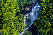 Detail of Shannon Falls on the Sea to Sea Highway<br /> Shannon Falls Provincial Park<br /> British Columbia<br /> Canada