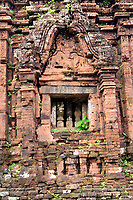 An ancient Hindu temple at My Son Sanctuary, Qang Nam Province, Vietnam
