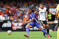 November 4, 2017 - Valencia, Valencia, Spain - Jeison Murillo of Valencia CF and Claudio Beauvue of Club Deportivo Leganes in action during the La Liga match between Valencia CF and Club Deportivo Leganes at Estadio Mestalla, on november 4, 2017 in Valencia, Spain. (Credit Image: © Maria Jose Segovia/NurPhoto via ZUMA Press)