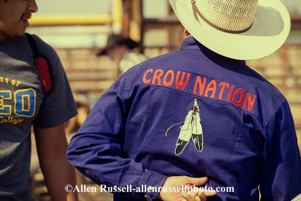 Crow Fair Indian Rodeo, James Real Bird, Crow Indians, Crow Indian Reservation, Montana, saddle bronc rider