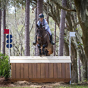 Jessica Phoenix (CAN) and Pavarotti at the Red Hills International Horse Trials in Tallahassee, Florida.