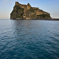 The Aragon Castle built on a small island in front of Ischia.