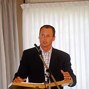 Jaarvergadering Landelijk Contact Jeugdverenigingen van de Christelijke Gereformeerde Kerken Chr. Ger. Kerk De Fontein in Bunschoten, spreker Hendrik Baron