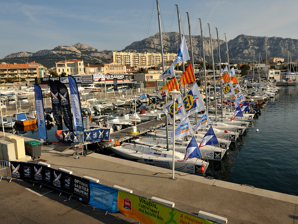 The J80 hulls line up in Marseille. Photo:Chris Davies/WMRT