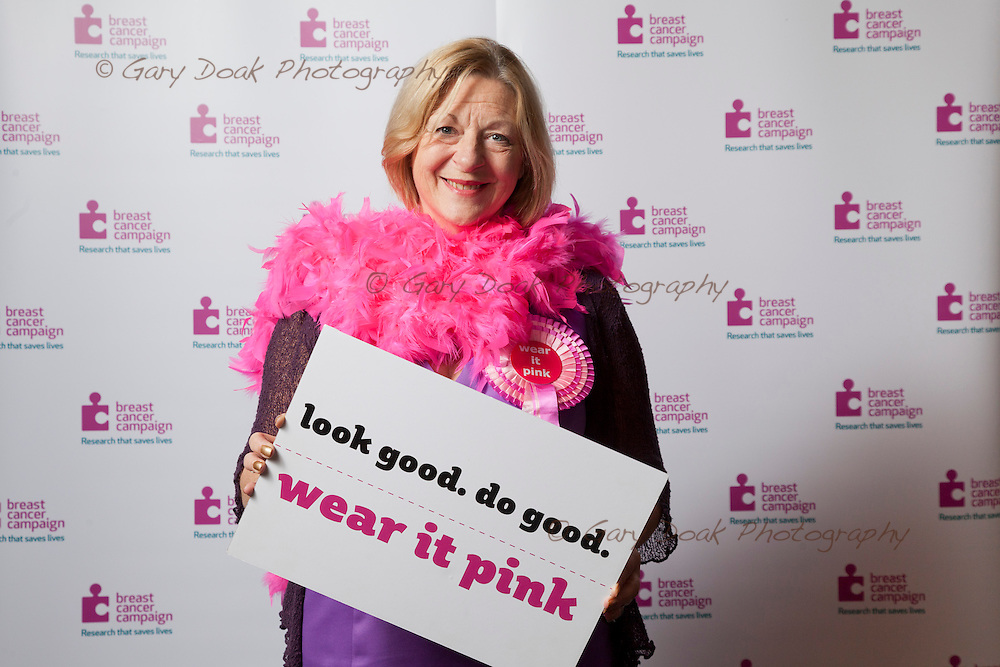 Breast Cancer Campaign. <br /> MSP's 'Wear it Pink!' at the Scottish Parliament, Holyrood, Edinburgh.<br /> Linda Fabiani, MSP.<br /> Picture by Gary Doak Photography.