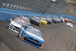 March 10, 2018 - Avondale, Arizona, United States of America - March 10, 2018 - Avondale, Arizona, USA: Dylan Lupton (28) brings his race car down the front stretch during the DC Solar 200 at ISM Raceway in Avondale, Arizona. (Credit Image: © Chris Owens Asp Inc/ASP via ZUMA Wire)