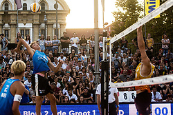 Beach Volleyball Challenge Ljubljana 2019, on August 4, 2019 in Kongresni trg, Ljubljana, Slovenia. Photo by Grega Valancic / Sportida