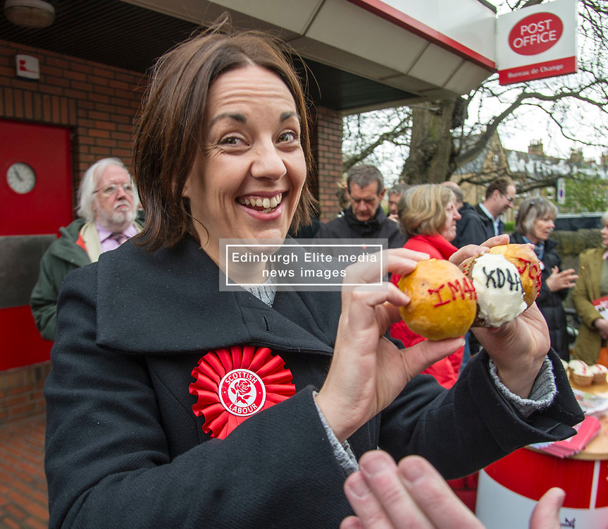 Pictured: Kezia Dugdale<br /> <br /> Scottish Labour's Ian Murray and Scottish Labour leader Kezia Dugdale hit the general election campaign trail in Edinburgh today for the first campaign event of Mr Murray's re-election campaign for the Edinburgh South constituency.<br /> Ger Harley | EEm 21 April 2017