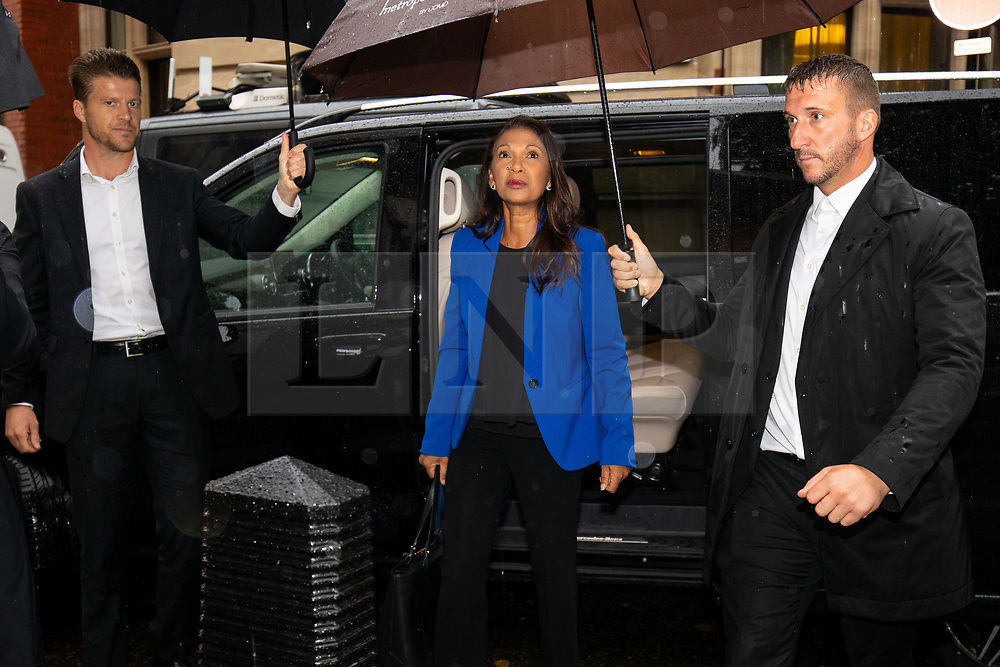 © Licensed to London News Pictures. 24/09/2019. London, UK. Anti-Brexit campaigner and businesswoman Gina Miller arrives at the Supreme Court. The Supreme Court is today due to make a historic ruling on whether Boris Johnson's decision to suspend Parliament for five weeks was lawful. Photo credit : Tom Nicholson/LNP