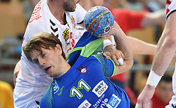 Jure Dolenc of Slovenia during friendly handball match between Slovenia and Srbija, on October 27th, 2019 in Športna dvorana Lukna, Maribor, Slovenia. Photo by Milos Vujinovic / Sportida