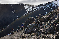Hiking on Mount Hafnarfjall (844m) which lies 4km southeast of the town Borgarnes, in West Iceland. Gengið á Hafnarfjall við Borgarnes.