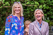 Jo Whiley is shown the Welcome to Yorkshire Garde  Designed by, Mark Gregory, Built by Landform Consultants Ltd - Press preview day at The RHS Chelsea Flower Show.