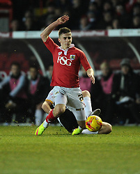 Bristol City's Joe Bryan is fouled - Photo mandatory by-line: Joe Meredith/JMP - Mobile: 07966 386802 - 10/02/2015 - SPORT - Football - Bristol - Ashton Gate - Bristol City v Port Vale - Sky Bet League One