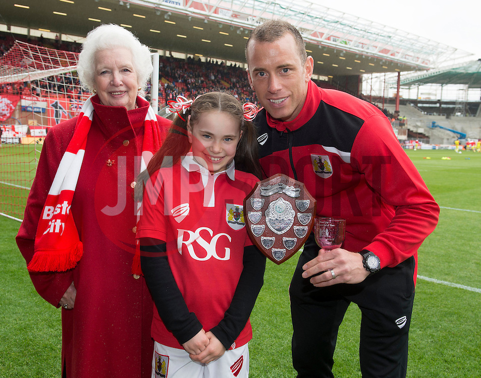 Bristol City's Aaron Wilbraham, Supporters Trust award for top scorer - Photo mandatory by-line: Joe Meredith/JMP - Mobile: 07966 386802 - 03/05/2015 - SPORT - Football - Bristol - Ashton Gate - Bristol City v Walsall - Sky Bet League One