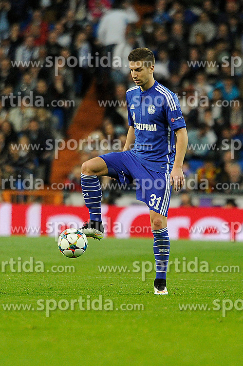 10.03.2015, Estadio Santiago Bernabeu, Madrid, ESP, UEFA CL, Real Madrid vs Schalke 04, Achtelfinal, R&uuml;ckspiel, im Bild FC Shalke 04&acute;s Matija Nastasic // during the UEFA Champions League Round of 16, 2nd Leg match between Real Madrid and Schakke 04 at the Estadio Santiago Bernabeu in Madrid, Spain on 2015/03/10. EXPA Pictures &copy; 2015, PhotoCredit: EXPA/ Alterphotos/ Luis Fernandez<br /> <br /> *****ATTENTION - OUT of ESP, SUI*****