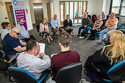Pictured:  Shirley-Anne Somerville<br /> <br /> Cabinet Secretary for Social Security and Older People, Shirley-Anne Somerville visited Inclusion Scotland. The Cabinet Secretary met staff, including Iain Smith, Policy and Public Affairs Officer and Pauline Nolan, Policy and Localisation manager, and disabled people ahead of a Parliamentary Statement she is scheduled to make on Dignity and Respect in Scotland's Social Security System. <br /> <br /> Inclusion Scotland is run by disabled people ourselves. This is important because disabled people know best about the barriers that prevent our full inclusion into Scottish society. We experience them every day. But we cannot remove them by ourselves. We need allies and supporters. We need those in power to hear disabled people's voices and work with us to remove these barriers.