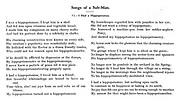 Songs of a Sub-Man. VI. I Had a Hippopotamus.