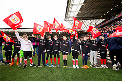 Flagbearers prior to kick off - Mandatory by-line: Ryan Hiscott/JMP - 17/02/2019 - FOOTBALL - Ashton Gate Stadium - Bristol, England - Bristol City v Wolverhampton Wanderers - Emirates FA Cup fifth round proper