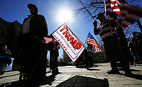 """Supporters of U.S. President Donald Trump attend a """"Spirit of America"""" rally in Denver February 27, 2017.   REUTERS/Rick Wilking"""