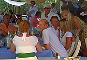 **EXCLUSIVE**.Duchess of York, Sarah Ferguson with friends.Club 55 Restaurant .St. Tropez, France..Sunday, July 29, 2007.Photo By Celebrityvibe.com.To license this image please call (212) 410 5354; or.Email: celebrityvibe@gmail.com ;.