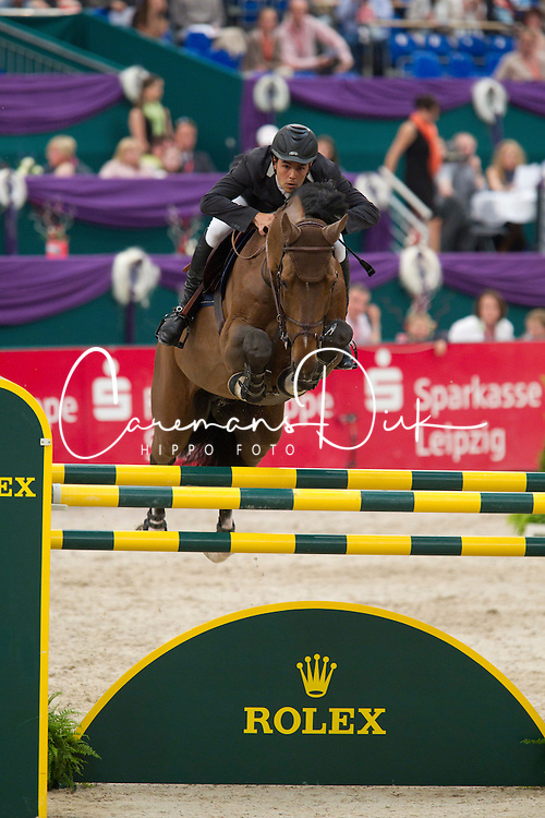 Alvarez Moya Sergio (ESP) - Action Breaker<br /> Rolex FEI World Cup Final Jumping Leipzig 2011<br /> © Dirk Caremans