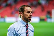 England Head Coach Gareth Southgate ahead of the UEFA European 2020 Qualifier match between Czech Republic and England at Sinobo Stadium, Prague, Czech Republic on 11 October 2019.
