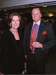 MR & MRS SIMON PARKER BOWLES he is the former brother in law of Camilla Parker Bowles, at a party in London on 26th November 1997.MDS 45