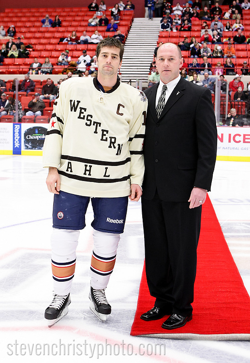 December 18, 2010: The Oklahoma City Barons play the San Antonio Rampage in an American Hockey League game at the Cox Convention Center in Oklahoma City.