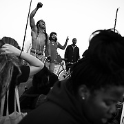 """Protesters vent their rage on the streets of Los Angeles while demonstrating against the decision in Ferguson, Missouri to not indict police officer in the shooting death of unarmed, black teenager Mike Brown. These Photographs And More Are Available in Color. Please Search for """"Ferguson"""""""