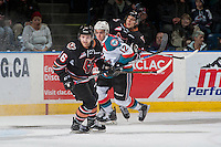 KELOWNA, CANADA - FEBRUARY 1: Jake Kryski #16 of the Calgary Hitmen skates against the Kelowna Rockets on February 1, 2017 at Prospera Place in Kelowna, British Columbia, Canada.  (Photo by Marissa Baecker/Shoot the Breeze)  *** Local Caption ***