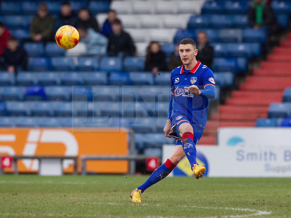 © Licensed to London News Pictures . 23/01/2016 . Oldham , UK . Oldham's JAMES WILSON on the ball . Oldham Athletic vs Bury at Boundary Park . Photo credit : Joel Goodman/LNP