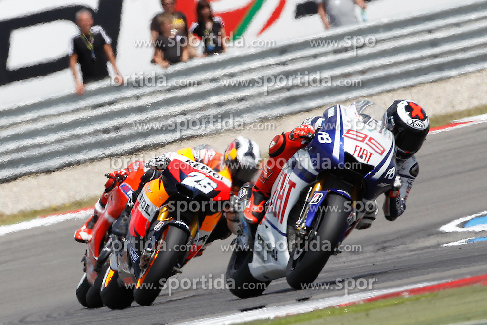 27.06.2010, Assen, NLD, MotoGP, TIM TT Assen, im Bild Jorge Lorenzo - Fiat Yamaha team. EXPA Pictures © 2010, PhotoCredit: EXPA/ InsideFoto/ Semedia +++ for AUT and SLO only +++ / SPORTIDA PHOTO AGENCY