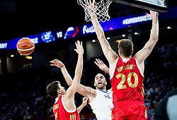 Nick Calathes of Greece vs Aleksei Shved of Russia and Andrey Vorontsevich of Russia during basketball match between National Teams of Greece and Russia at Day 14 in Round of 16 of the FIBA EuroBasket 2017 at Sinan Erdem Dome in Istanbul, Turkey on September 13, 2017. Photo by Vid Ponikvar / Sportida