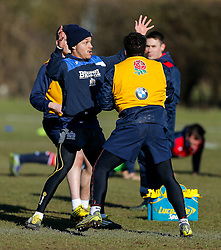 Elias Caven of Bristol Rugby joins in during an England U20 training session at Bristol Rugby's  facility ahead of the U20 Six Nations match versus Wales - Mandatory byline: Rogan Thomson/JMP - 08/03/2016 - RUGBY UNION - Clifton Rugby Club - Bristol, England - England Under 20s Training at Bristol Rugby.