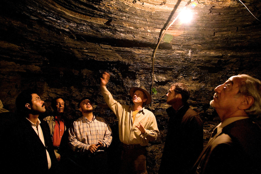"Semir Osmanagic leading a tour of Saudi businessmen at a tunnel complex near the town center...Bosnian Pyramids.Visoko, Bosnia and Herzegovina. **The authenticity of the ""Bosnian Pyramids"" has been a point of heated debate in the scientific community**"