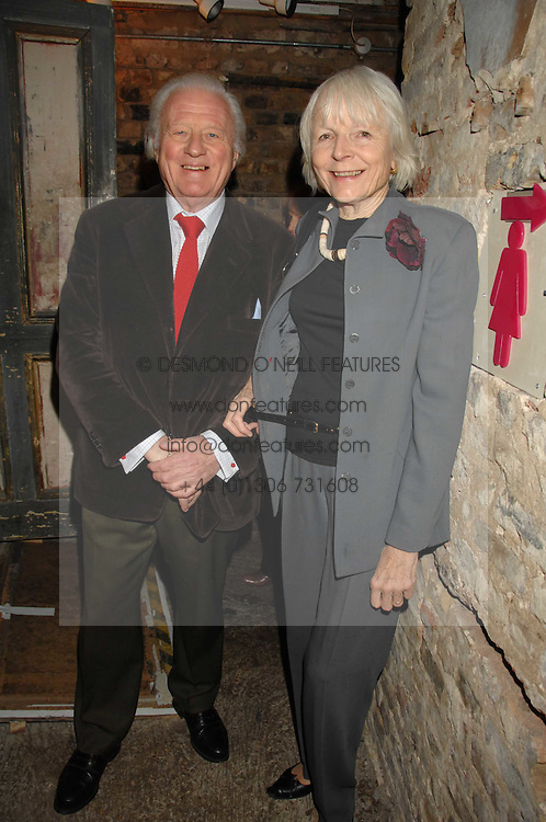 VISCOUNT & VISCOUNTESS NORWICH at a reception to Discover Wilton's Music Hall held at the hall in Graces Alley, London E1 on 5th December 2007.<br /><br />NON EXCLUSIVE - WORLD RIGHTS
