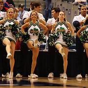 Notre Dame, cheer leaders in action during the Notre Dame Fighting Irish V Louisville Cardinals Semi Final match during the Big East Conference, 2013 Women's Basketball Championships at the XL Center, Hartford, Connecticut, USA. 11th March. Photo Tim Clayton