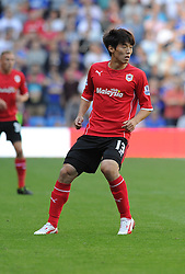 Cardiff City's Kim Bo-Kyung  - Photo mandatory by-line: Alex James/JMP - Tel: Mobile: 07966 386802 31/08/2013 - SPORT - FOOTBALL - Cardiff City Stadium - Cardiff - Cardiff City V Everton - Barclays Premier League