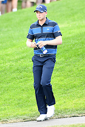 June 25, 2017 - Cromwell, Connecticut, U.S - Daniel Berger walks off the first tee during the final round of the Travelers Championship at TPC River Highlands in Cromwell, Connecticut. (Credit Image: © Brian Ciancio via ZUMA Wire)