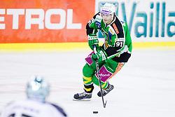 Miha Verlic (HDD Tilia Olimpija, #91) during ice-hockey match between HDD Tilia Olimpija and EHC Liwest Black Wings Linz at fourth match in Semifinal  of EBEL league, on March 13, 2012 at Hala Tivoli, Ljubljana, Slovenia. (Photo By Matic Klansek Velej / Sportida)