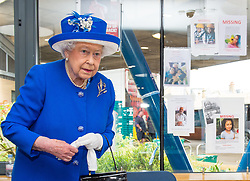 The Queen and The Duke of Cambridge visit Westway Sports Centre and meet members of the community affected by the fire at Grenfell Tower, as well as Firefighters and volunteers, in Notting Hill, London, UK, on the 16th June 2017. Picture by Dominic Lipinski/WPA-Pool. 16 Jun 2017 Pictured: Queen, Queen Elizabeth. Photo credit: MEGA TheMegaAgency.com +1 888 505 6342
