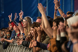 © Licensed to London News Pictures . 06/06/2015. Manchester , UK . Everything Everything fans at the Big Top stage at The Parklife 2015 music festival in Heaton Park , Manchester . Photo credit : Joel Goodman/LNP