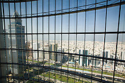 Sheikh Zayed Road. Emirates Towers Hotel. View from the atrium.