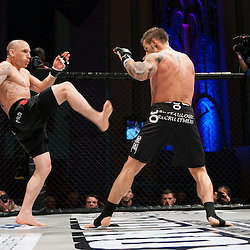 PAUL KINGDON GOES FOR A FRONT KICK - UCMMA 34 2 JUNE 2013