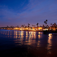 Newport Beach sunrise photo in Orange County in Southern California along the Pacific Ocean.