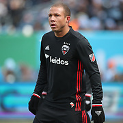 NEW YORK, NEW YORK - March 12:  Nick DeLeon #14 of D.C. United during the NYCFC Vs D.C. United regular season MLS game at Yankee Stadium on March 12, 2017 in New York City. (Photo by Tim Clayton/Corbis via Getty Images)