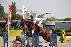 Vrins Nick (BEL) - Esperanto van Paemel<br /> Nationaal Kampioenschap Jonge Paarden<br /> Stal Hulsterlo - Meerdonk 2010<br /> © Dirk Caremans