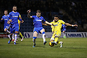 AFC Wimbledon striker Andy Barcham (17) scores a goal 2-2 during the EFL Sky Bet League 1 match between Gillingham and AFC Wimbledon at the MEMS Priestfield Stadium, Gillingham, England on 21 February 2017.